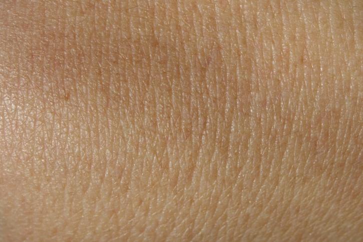 Image d'une peau à l'oeil nu